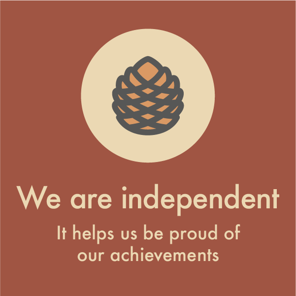 We are independent